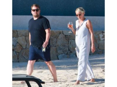 Daily Mail - James Corden and wife Julia